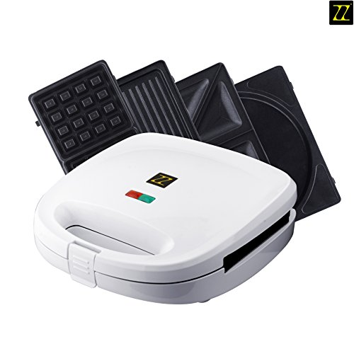 (ZZ S6141A 4 in 1 Breakfast Waffle Omelette and Sandwich Maker,)
