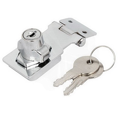 Latches 80mmx32mmx30mm Metal Screw Fixing Safety Guard Keyed Hasp Latch Lock Silver Tone By Houseuse
