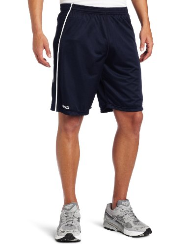 ASICS Men's Tango Short, Navy/White, Large