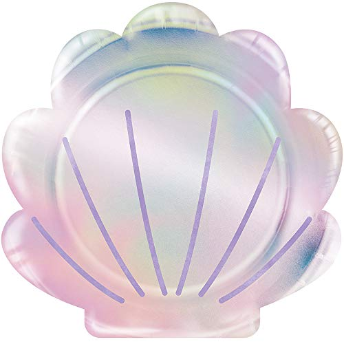 Iridescent Shell - Creative Converting 336719 SHAPED PLATE 9