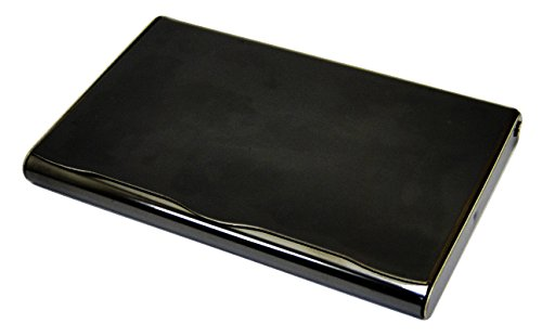 Business Name Card Holder Stainless Steel Case - Black (b)