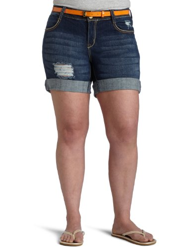 Bermuda Shorts Southpole (Southpole Junior Plus Denim Bermuda Short, Dark Sand, 22)