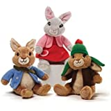 Nickelodeon's Benjamin Bunny Peter Rabbit and Lily Bobtail Beanbag Plush Complete 3 Piece Set Made By Gund