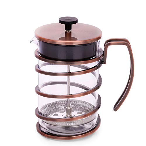 Coffee Pot Tea Pot Coffee Kettle Espresso Coffee Maker Coffee Machine French Coffee Press Glass Household Stainless Steel Filter Pressure GAOFENG (Color : Ancient Copper, Size : 800ml) by GAOFENG-coffee pot (Image #7)