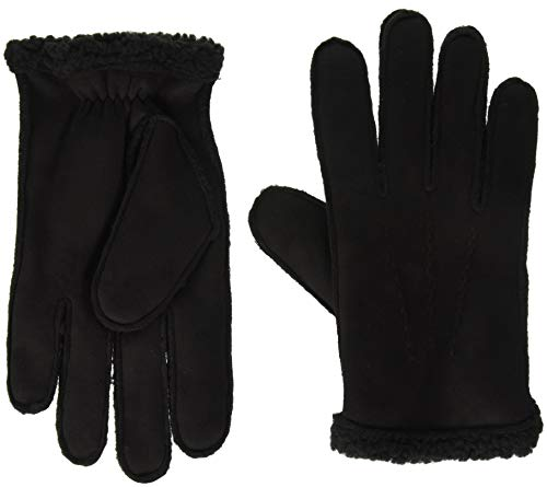Tommy Hilfiger Men's Faux Shearling Gloves, Black, ()