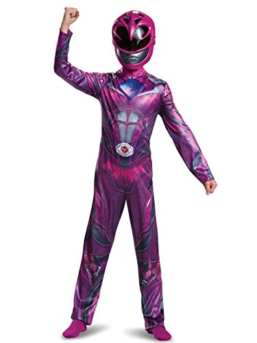 Disguise Ranger Movie Classic Costume, Pink, Small (4-6X)