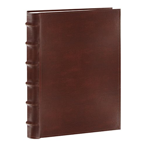 Leather Bound Album - Pioneer Photo Albums CLB-346/BN Sewn Bonded Leather Bi-Directional 300 Photos Pocket Album (Brown)