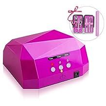 MatrixSight 36W UV Nail Dryer Manicure Machine Diamond Shaped LED UV Nail Curing Lamp Dryer Gel Polish Nail Gel Nails Professional
