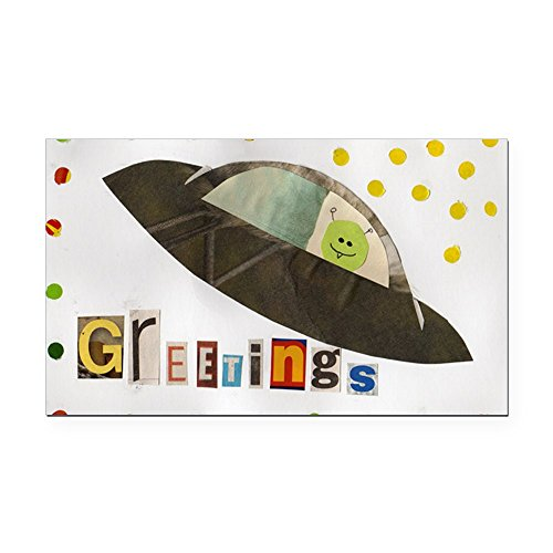 CafePress - Greetings - Rectangle Car Magnet, Magnetic Bumper -