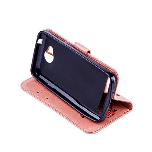 COWX Huawei Y3 II / Y3 2(2016) Hülle Kunstleder Tasche Flip im Bookstyle Klapphülle mit Weiche Silikon Handyhalter PU Lederhülle für Huawei Y3 II / Y3 2(2016) Tasche Brieftasche Schutzhülle für Huawei