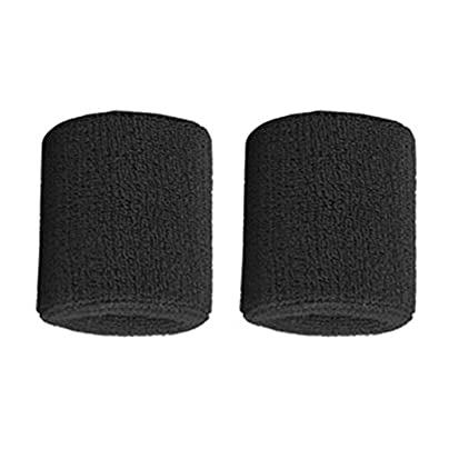 1Pair Pure Cotton Wristbands Men Women Wrist Bands Sweatbands for Sport Tennis Kaemma Estimated Price £0.10 -