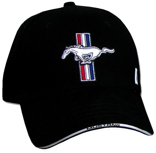 Mustang Cap (Ford Mustang GT Fine Embroidered Hat Cap, Black)