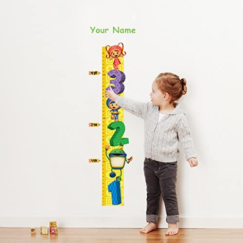 Amazon Com Team Umizoomi Personalized Growth Chart Wall Decal For Nursery Kids Room Arts Crafts Sewing