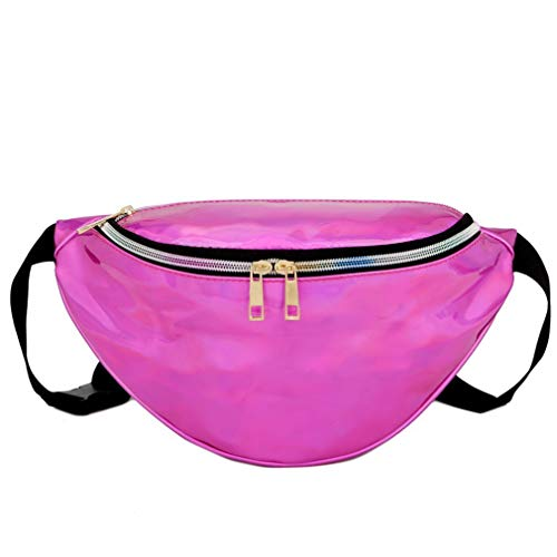 Beach Pink Silver Bag Fashion Modern to Pocket Refago Waist Carry Laser Easy Oz8nqtPx