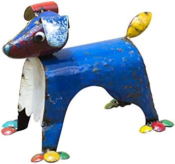 Upcycled Emporium Adorable Dog's Life Outdoor Dog Statue