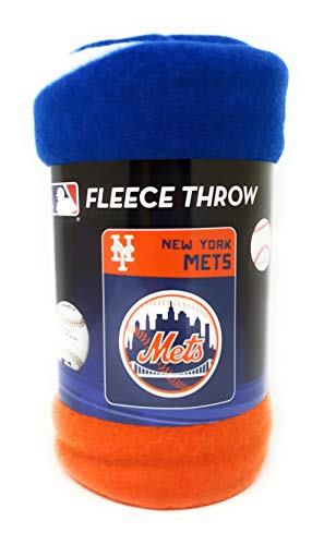 Mets New York Throw Blankets by Northwest 40 x 50 inches Great Gift Travel Fleece Throws
