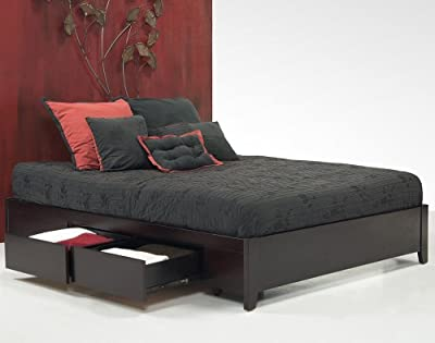 Modus Nevis Simple Platform Storage Bed in Espresso