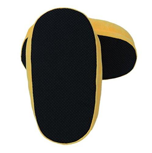 Sannysis® Emoji Emoticon Zapatillas Cómodo Suela Térmica Vellocino Invierno (A) K