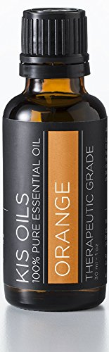Kis Oils 100% Pure Undiluted Sweet Orange Essential Oil Therapeutic Grade- 30ml (Sweet Orange, 30ml)