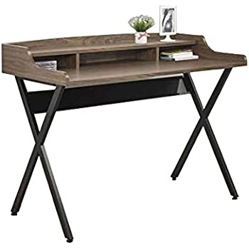 Amazon Com Coaster Home Furnishings Writing Desk Walnut