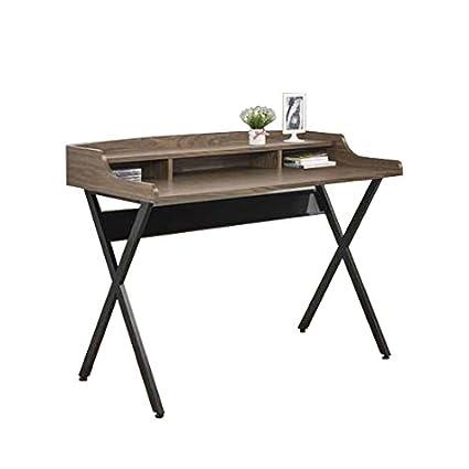black writing desk. Coaster Home Furnishings Writing Desk, Walnut And Black Desk M