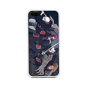 ecenter - Dibujos animados Naruto Sasuke Jyuugo Suigetsu Karin 2 blanco Bumper plastique + cas de TPU couverture for Apple iPhone 5 5S 5th Generation Teléfono Móvil Come With FREE