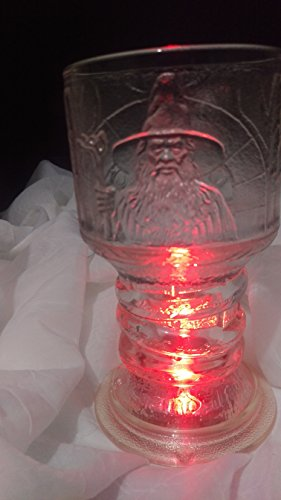 The Lord of The Rings ''The Fellowship of The Ring'' GANDALF Glass Goblet by New Line Production, Inc. (Image #1)