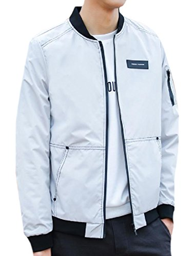 Front Men Howme Fit Jacket Zip Utility Top Grey Spring Autumn Original FOHq6