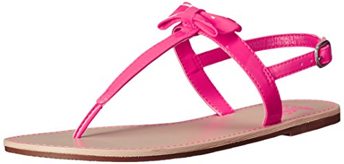The Children's Place Girl's Candy Bow Thong Sandal (Little Kid/Big Kid), Prima Pink, 4 M US Big Kid (Children Place Girls Sandals)