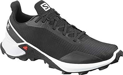 SALOMON Alphacross - Men's Men's Trail Running Shoes, Black/White/Monument, 8.5 US