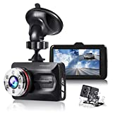 "TOGUARD Dual Dash Cam Car Camera Full HD 170° Wide Angle 3.0"" 1080P"