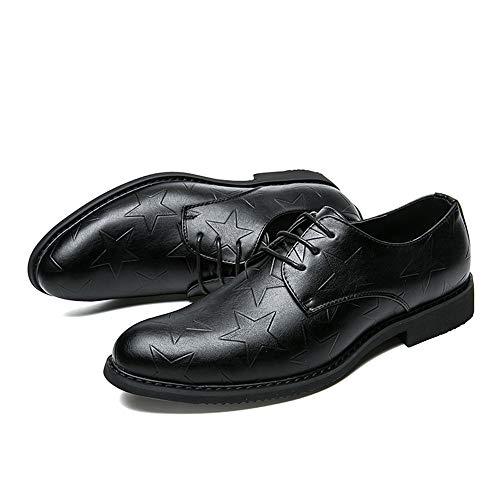 de Juventud Negro Ocio Tendencia la Cordones de Color de Aire sólido de Negro Jusheng tamaño Hombres Zapatos Color Oxfords EU los al 42 con Estilo Libre n4qtIdxwv