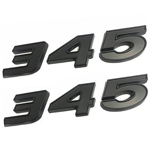 UPAUTO2PCS345 엠 블 럼 배지 3D 자기 접착 명판 345 닷지 챌린저 CHRYSLE300C(블랙)