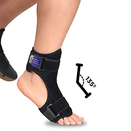 Everyday Medical Plantar Fasciitis Night Splint Brace for Plantar Fasciitis Pain Relief I Dorsal Foot Stretching Support for Achilles Tendonitis, Heel Pain, Plantar Fascia, Drop Foot -Men & Women-L/XL ()