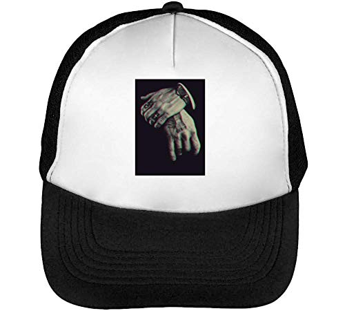 Snapback Blanco Guns Gang Respect Gorras Bullets Negro Ny Stuff Gangster Beisbol Hombre Rqx1g8H