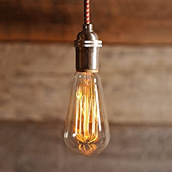 Vintage Edison Bulbs - NEW 100% SHATTERPROOF PACKAGING - 60w Dimmable Hand Crafted Industrial Pendant & Vintage Edison Bulbs Rolay 60w Dimmable Industrial Pendant ... azcodes.com