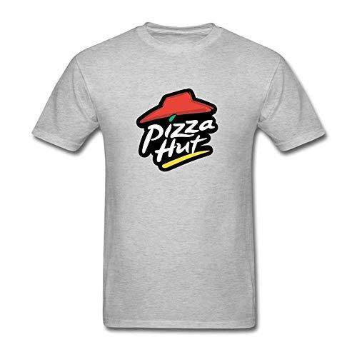 (Mens Casual Cotton Classic Logo Tee Tshirt Short Sleeve Crew Neck Sport Tshirt Tops T-Shirt Plus Size for Men Grey)
