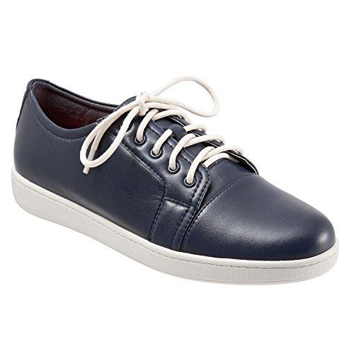 Grain Nappa Footwear (Trotters Women's Arizona Lace Up,Navy Full Grain Nappa Soft Leather,US 6.5)