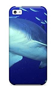 MMZ DIY PHONE CASEHot Tpu Cover Case For Iphone/ 5c Case Cover Skin - Predator Sand Tiger Shark