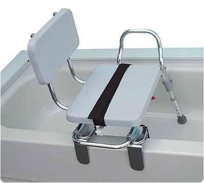 Tub Mount Sliding Transfer Bench with Swivel Padded (Tub Mount Sliding Swivel)