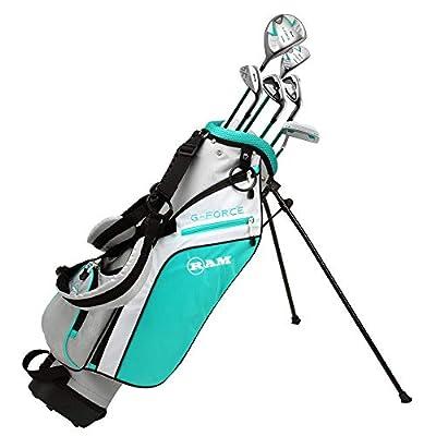 RAM Golf Junior G-Force Girls Right Hand Golf Clubs Set with Bag