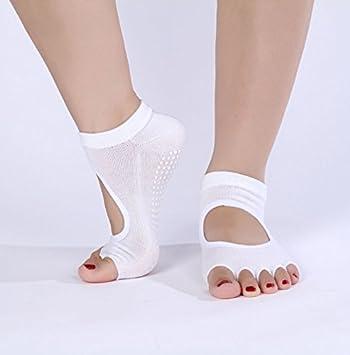 XIU*RONG Calcetines Calcetines De Algodón, Yoga, Dedos, Cinco Dedos Calcetines,Blanca,F (10 Pares): Amazon.es: Deportes y aire libre
