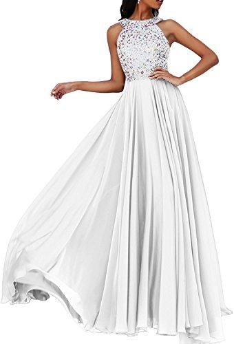 La Neu Steine Braut Weiß Langes Ballkleider Partykleider Abendkleider Marie Promkleider Festlichkleider qqr76xT1n