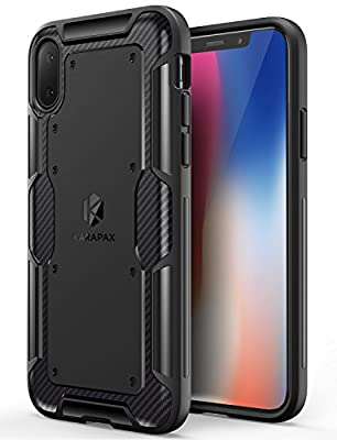 iPhone X Case, iPhone 10 Case, Anker KARAPAX Shield Case Soft TPU Cover [Support Wireless Charging] [Thin Slim Fit] [Anti Scratch] With Carbon Texture and Good Grip for Apple 5.8 In iPhone X - Black