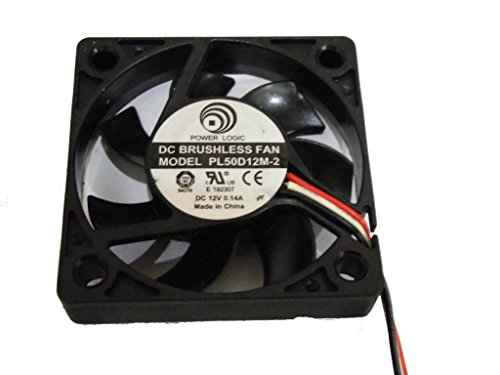 Power Logic 5010 PL50D12M-2 12V 0.14A 3Wire Cooling Fan by General (Image #2)