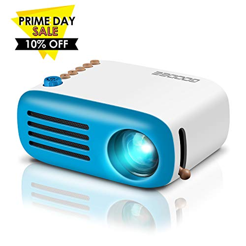(GooDee Mini Projector, LED Pico Projector, Pocket Video Projector Support HDMI Smartphone PC Laptop USB for Movie Games)
