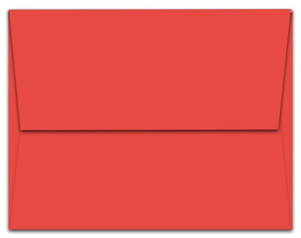 """50 Red A2 Envelopes - 5.75"""" x 4.375"""" - Square Flap durable modeling"""