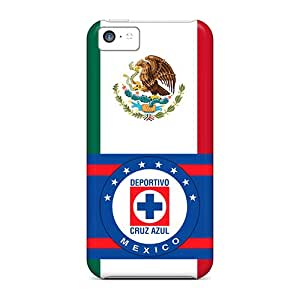 Iphone 5c Owi7181SvzS Allow Personal Design Realistic Cruz Azul Mexico Pattern Anti-Scratch Cell-phone Hard Cover -ErleneRobinson