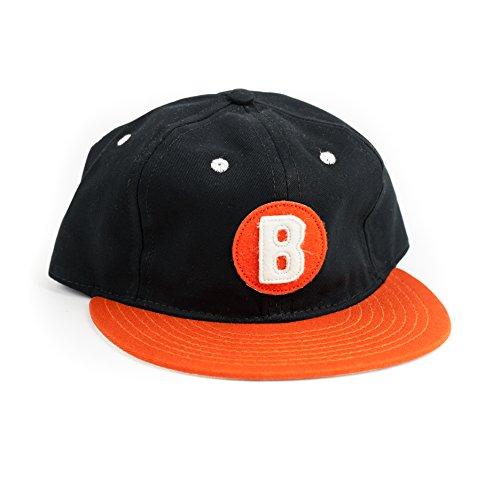 Charlie Hustle x Ebbets Field Unisex Negro League Baltimore Black Sox Cap One Size Black/Orange