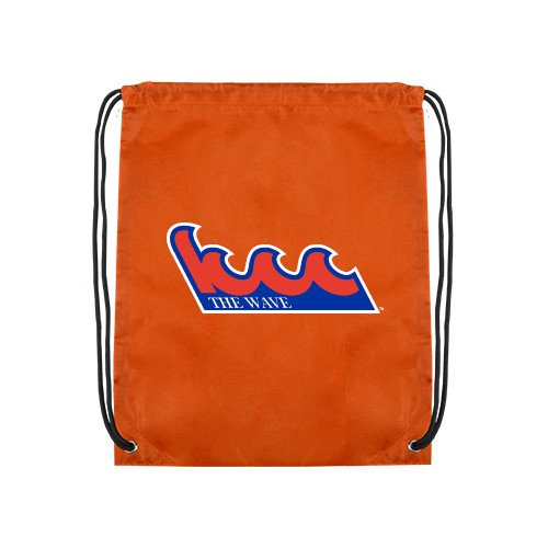 Kingsborough Community College Orange Drawstring Backpack 'The Wave' by CollegeFanGear
